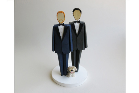 Two Grooms, One Dog